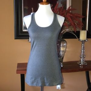 MPG Gray Fitted Yoga Racerback Tank Sz S NWOT
